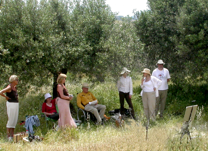 Painting course in the Valero Olive grove